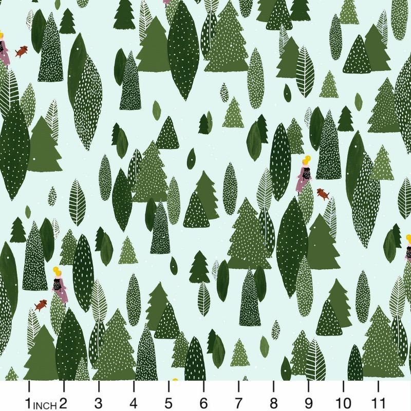 Cotton + Steel Girls Club, Another Adventure in Forest, Fabric Half-Yards PK103-FO1P
