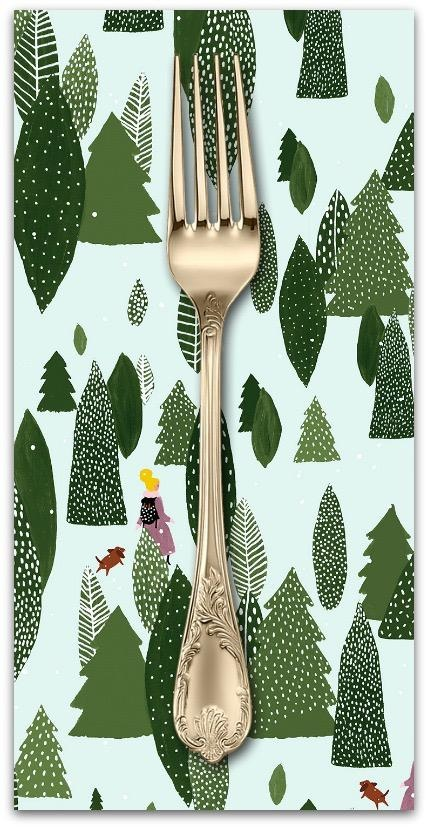 PD's Cotton + Steel Collection Girls Club, Another Adventure in Forest, Dinner Napkin