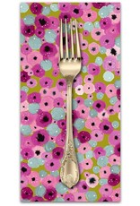 PD's Cotton + Steel Collection Girls Club, Flower Fountain in Sweat Pea, Dinner Napkin