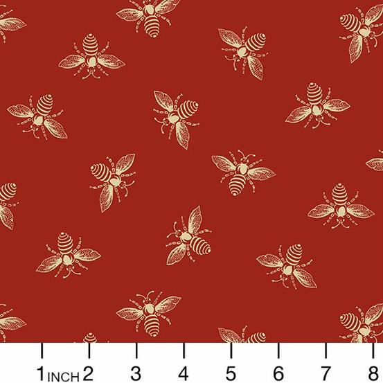 PD's Andover Collection Beehive, Bees in Red, Dinner Napkin