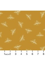 Andover Fabrics Beehive, Bees in Yellow, Fabric Half-Yards A-9084-Y