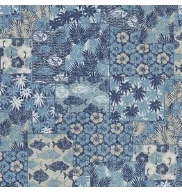 Sevenberry Island Paradise, Ocean Fish in Blue, Fabric Half-Yards SB-4142D1-1