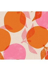 Ruby Star Society for Moda Cotton Linen Canvas, Ruby Star Society 2019, Peaches in Orange, Fabric Half-Yards RS5022 11L