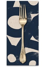 PD's Linen Blend Collection Cotton Linen Canvas by Ruby Star Society 2019, River Rocks in Navy, Dinner Napkin