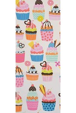 PD's Alexander Henry Collection Boardwalk, Frosted Cupcakes in Natural, Dinner Napkin