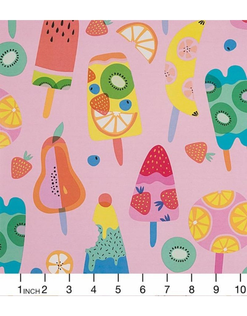 Alexander Henry Fabrics Boardwalk, Frozen in Pink, Fabric Half-Yards 8773B
