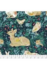 Free Spirit Land Art, Mini Enchanted Forest in Navy, Fabric Half-Yards PWOB025