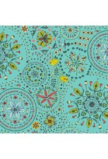 Free Spirit Land Art, Fairy Circles in Bleu, Fabric Half-Yards PWOB019