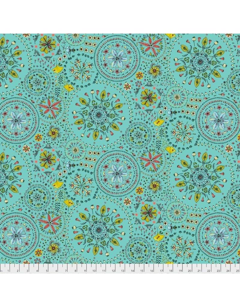 Free Spirit Land Art, Fairy Circles in Bleu, Fabric Half-Yards PWOB019