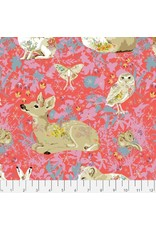 PD'S Free Spirit Collection Land Art, Mini Enchanted Forest in Rose, Dinner Napkin