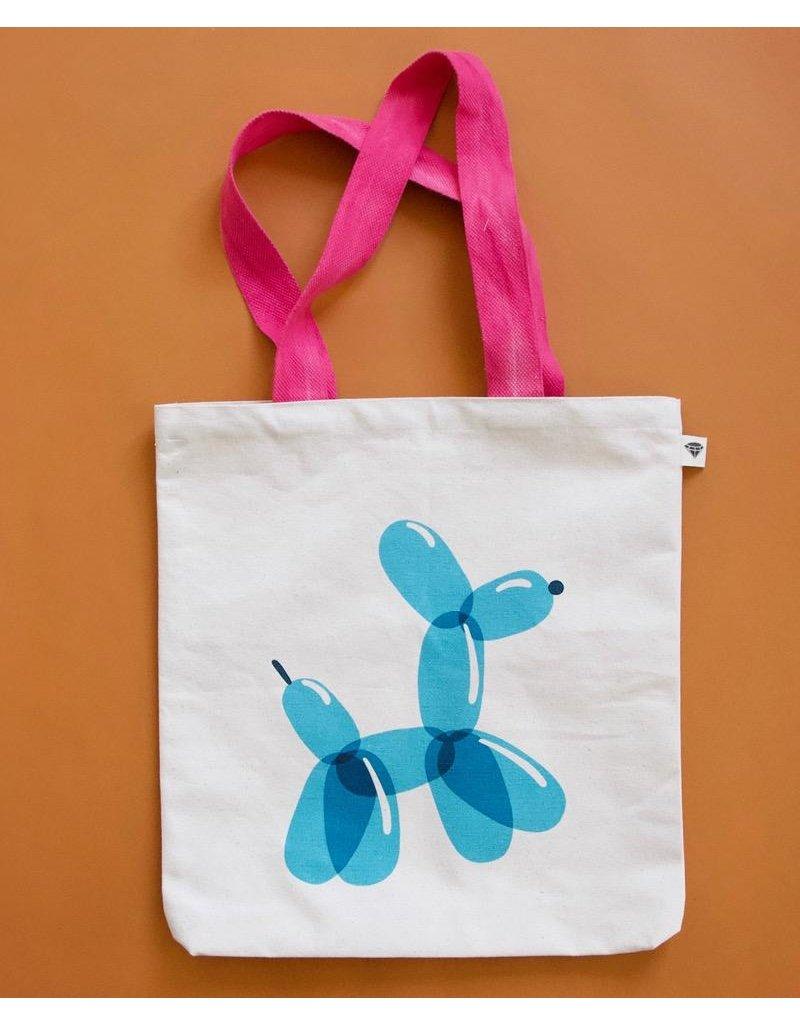 Picking Daisies Balloon Dog Tote Bag by Rashida Coleman-Hale for Ruby Star Society