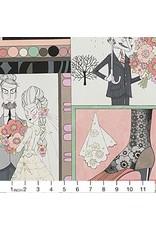 Alexander Henry Fabrics The Ghastlies, Ghastlie Love in Natural, Fabric Half-Yards 8788A