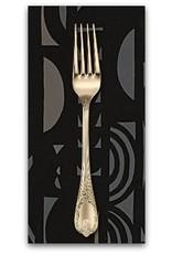 PD's Alexander Henry Collection A Ghastlie Screen in Black Slate, Dinner Napkin