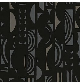 Alexander Henry Fabrics The Ghastlies, A Ghastlie Screen in Black Slate, Fabric Half-Yards 8790A