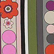 Alexander Henry Fabrics The Ghastlies, A Ghastlie Trim in Snapdragon, Fabric Half-Yards 8795B