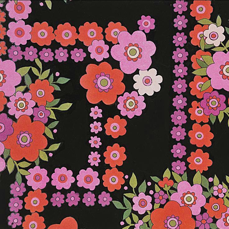 Alexander Henry Fabrics The Ghastlies, A Ghastlie Bouquet in Black, Fabric Half-Yards 8789D