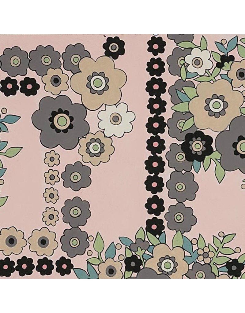 Alexander Henry Fabrics The Ghastlies, A Ghastlie Bouquet in Pale Pink, Fabric Half-Yards 8789C