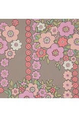 Alexander Henry Fabrics The Ghastlies, A Ghastlie Bouquet in Gray Pink, Fabric Half-Yards 8789A