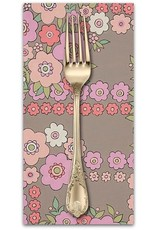 PD's Alexander Henry Collection A Ghastlie Bouquet in Gray Pink, Dinner Napkin