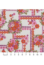 Alexander Henry Fabrics The Ghastlies, A Ghastlie Bouquet in Natural Red, Fabric Half-Yards 8789B