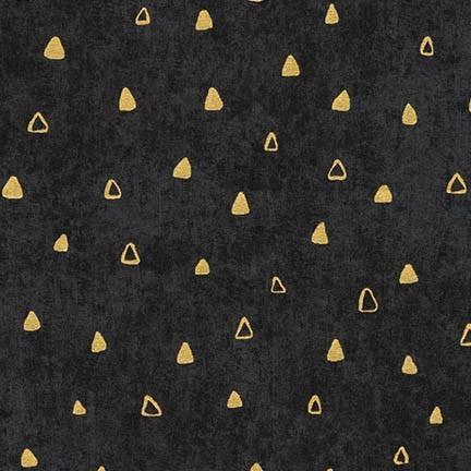 PD's Robert Kaufman Collection Gustav Klimt, Gold Triangles in Black, Dinner Napkin