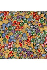 Robert Kaufman Gustav Klimt, Millefiori in Multi, Fabric Half-Yards SRKM-17183-205