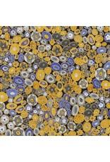 Robert Kaufman Gustav Klimt, Millefiori in Cobalt, Fabric Half-Yards SRKM-17183-72