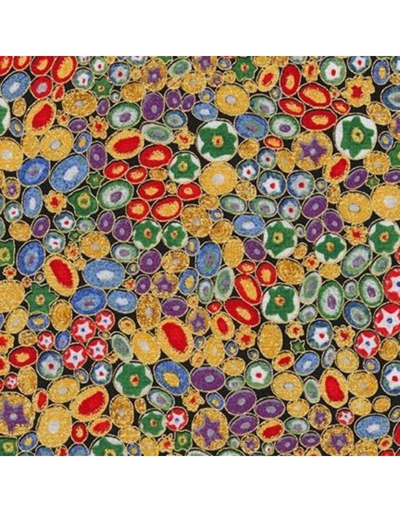 PD's Robert Kaufman Collection Gustav Klimt, Millefiori in Multi, Dinner Napkin