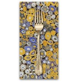 PD's Robert Kaufman Collection Gustav Klimt, Millefiori in Cobalt, Dinner Napkin
