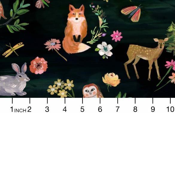 August Wren Woodland Fairytale, Animals in Multi, Fabric Half-Yards STELLA-DAW1451
