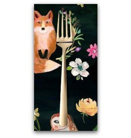 PD's August Wren Collection Woodland Fairytale, Animals in Multi, Dinner Napkin