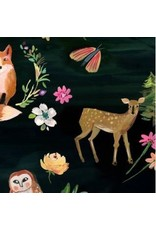 PD's August Wren Collection Woodland Fairytale, Animals in Multi, Dinner Napkin