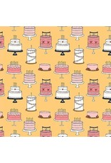PD's Michael Miller Collection Celebrate, Cake Tiers in Mango, Dinner Napkin