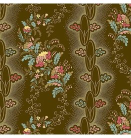 Andover Fabrics Chesapeake, Vine in Brown, Fabric Half-Yards A-9324-N
