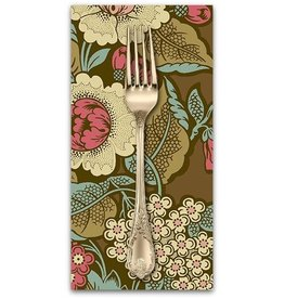 PD's Andover Collection Chesapeake, Bouquet in Dark Khaki, Dinner Napkin