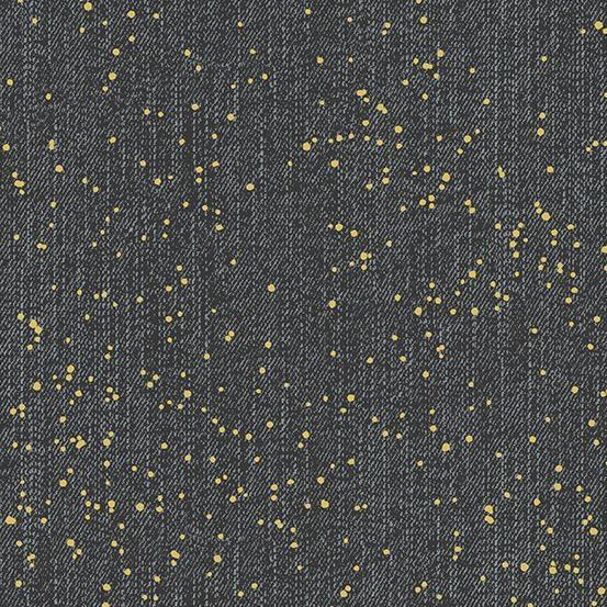 Libs Elliott Almost Blue, Spray in Asphalt with Metallic, Fabric Half-Yards A-9353-MG