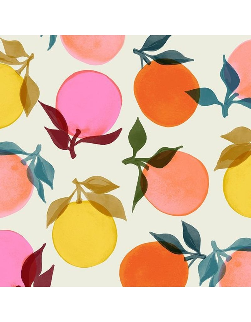 Ruby Star Society for Moda Rayon, Ruby Star Society, Clementine in Ivory, Fabric Half-Yards