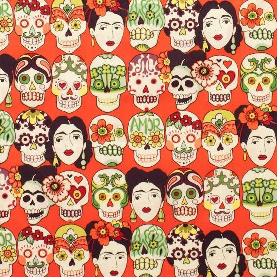 Alexander Henry Fabrics Folklorico, Gotas de Amor in Cantaloupe, Fabric Half-Yards 7925E
