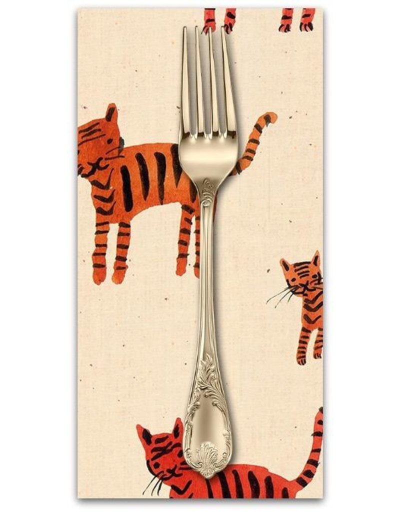 PD's Ruby Star Society Collection Ruby Star Society Darlings, Tiger Stripes in Orange, Dinner Napkin