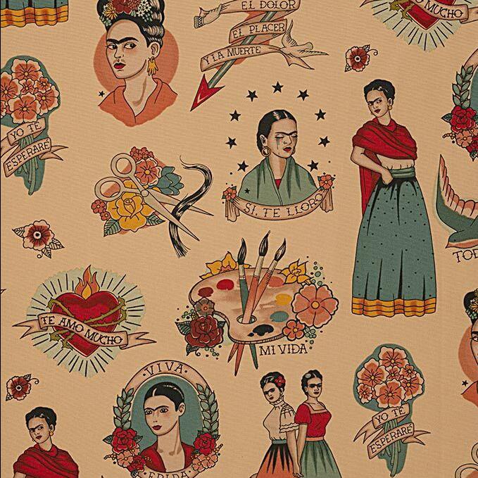 Alexander Henry Fabrics Canvas, Folklorico Si Te Lloro in Tea, Fabric Half-Yards H8793CR