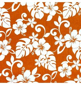 Sevenberry Island Paradise, Classic Hawaiian in Orange, Fabric Half-Yards SB-4144-2-3