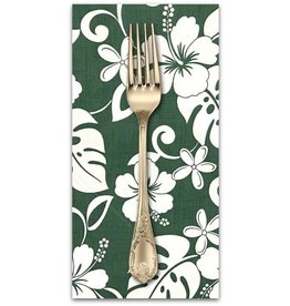 PD's Sevenberry Collection Island Paradise, Classic Hawaiian in Green, Dinner Napkin