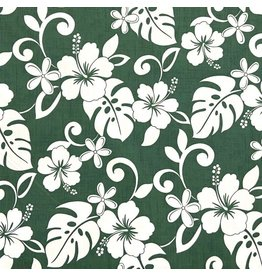 Sevenberry Island Paradise, Classic Hawaiian in Green, Fabric Half-Yards SB-4144-2-4