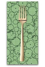 PD's Carolyn Friedlander Collection Collection CF, Foliage in Green, Dinner Napkin