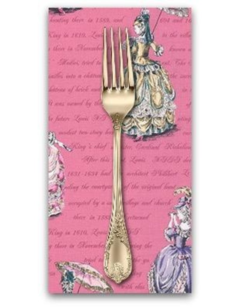 PD's Robert Kaufman Collection Ruru Marie, Ladies in Pink, Dinner Napkin