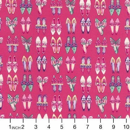 PD's Robert Kaufman Collection Ruru Marie, Shoes in Pink, Dinner Napkin