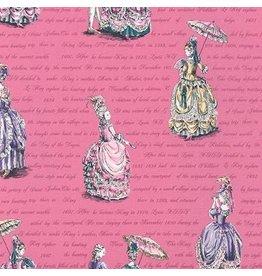 Robert Kaufman Ruru Marie, Ladies in Pink, Fabric Half-Yards QGRU-2380D12