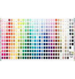 "Robert Kaufman Kona, Printed Color Chart, 24"" Fabric Panel SRKD-19900-205"