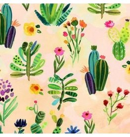 August Wren Viva Mexico!, Cacti in Multi, Fabric Half-Yards STELLA-DAW1503