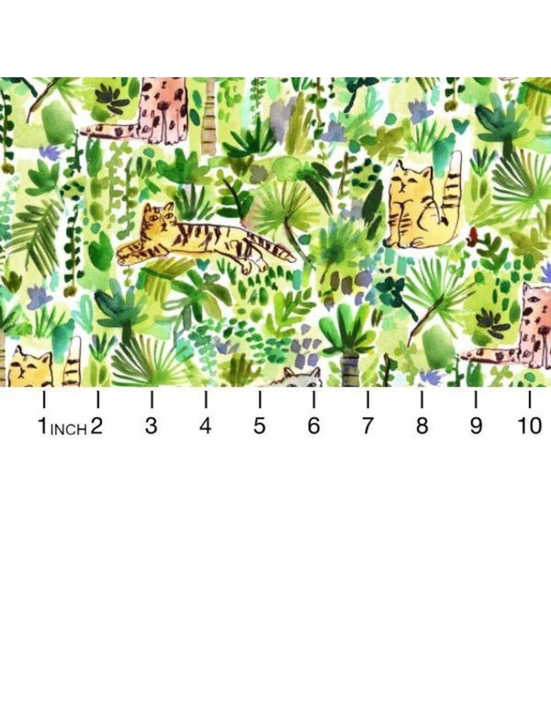 August Wren Viva Mexico!, Jungle Cats in Multi, Fabric Half-Yards STELLA-DAW1507
